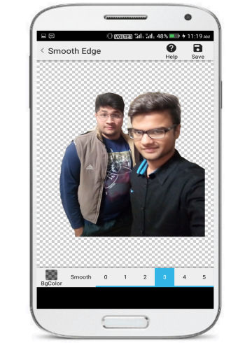edit photo background on Android-background eraser- make photo edges smooth