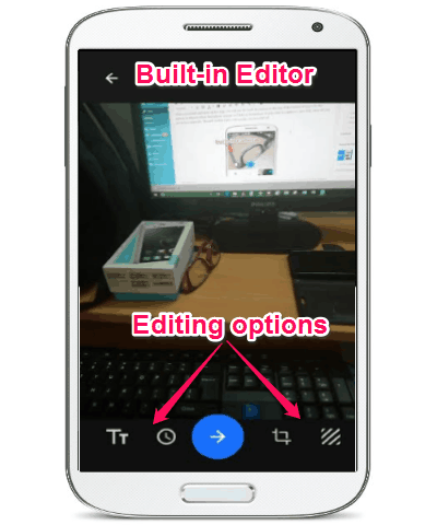 editing options