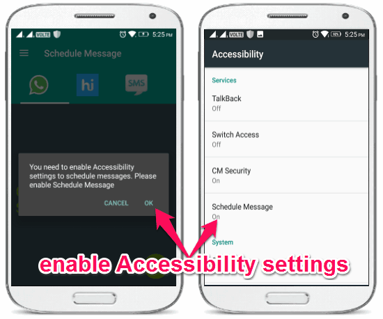 enable accessibility