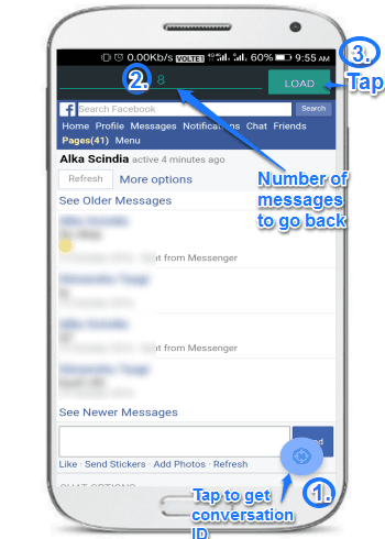 facebook time machine- jump to older facebook messages