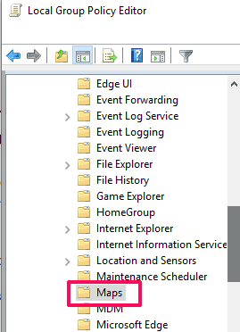 find maps folder