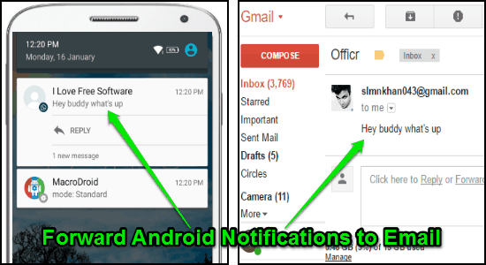 forward android notifications