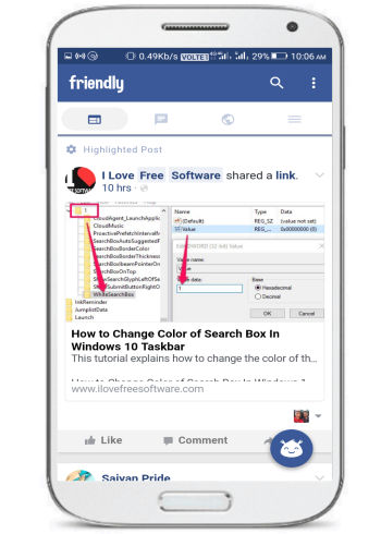 free lite alternative Facebook app- friendly for facebook- main interface