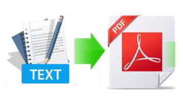 free bulk text to pdf converter software