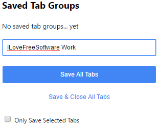 group chrome tabs by categories
