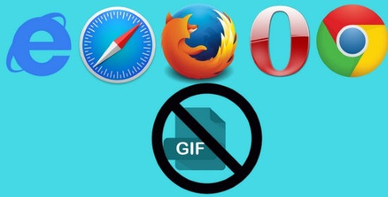 how to block gif and animated images in opera chrome firefox safari internet explorer