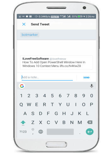 how to bookmark tweets anonmously- send tweet as direct message to botmarker