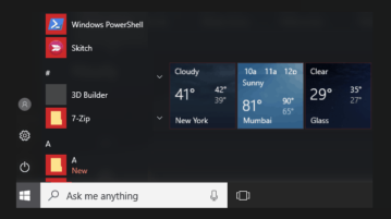 how to show weather for multiple cities in windows 10 start menu