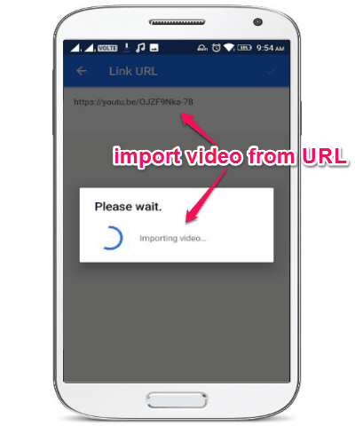 import video from URL