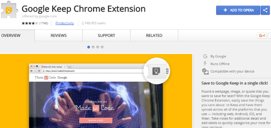 install chrome extension in opera