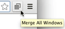 merge multiple chrome windows into one window