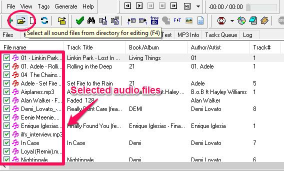 mp3bookhelper listing files