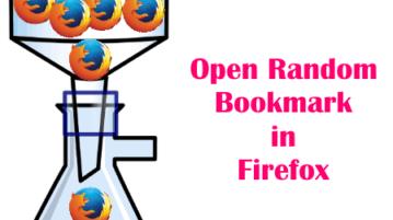 Open Random Bookmarks in Firefox