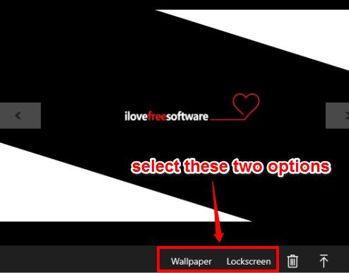 select wallpaper and lockscreen options