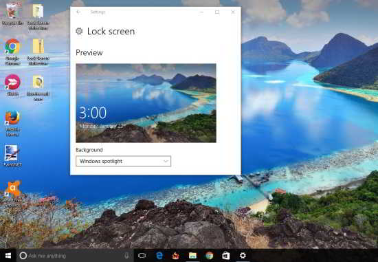 set same wallpaper on lock screen and desktop in Windows 10