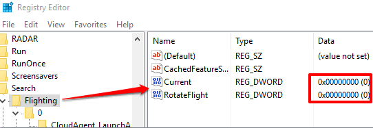 set value data of current and rotateflight keys to 0