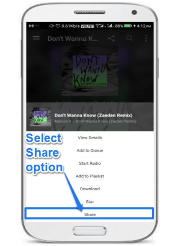 download songs from Saavn Android app