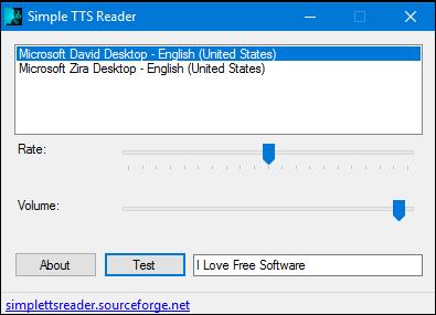 simple tts reader