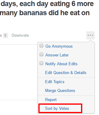 sort answers by upvotes on quora using free chrome extension