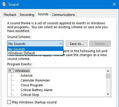 sound settings