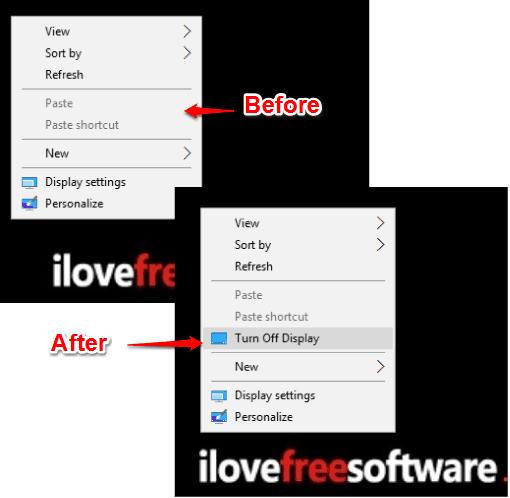 turn off display added to windows 10 desktop context menu