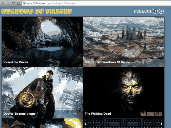 free windows 10 themes