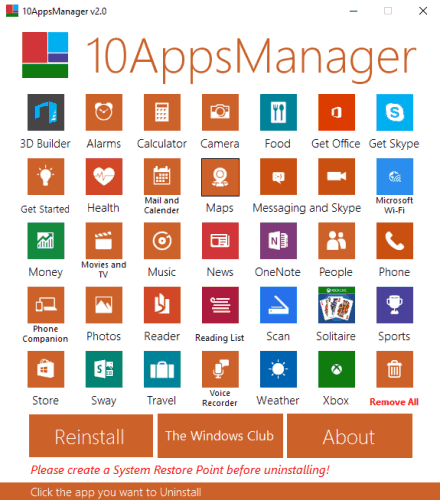 10AppsManager- interface