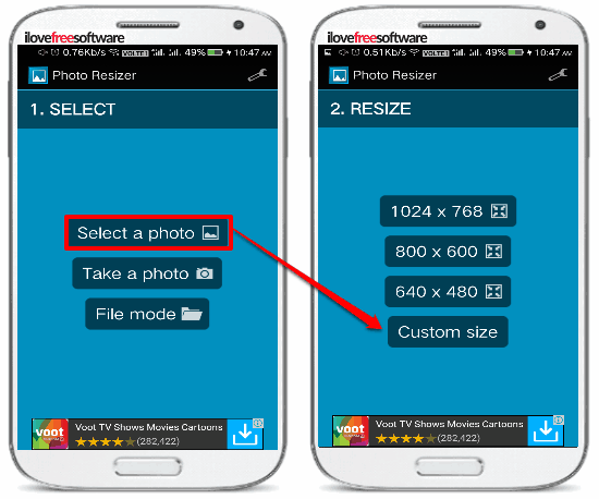 5 free photo resizer android apps- photo resizer