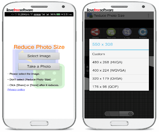 5 free photo resizer android apps- reduce photo size- set image dimensions