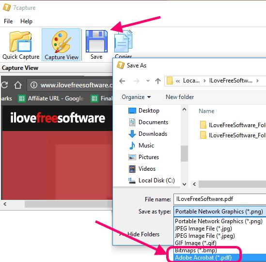 7Capture Save as PDF