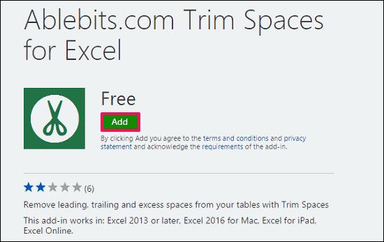 Ablebits.com Trim Spaces for Excel