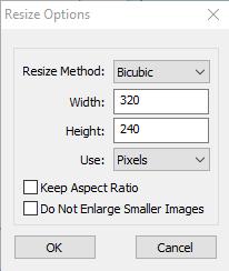 ImageBdger resizing parameters
