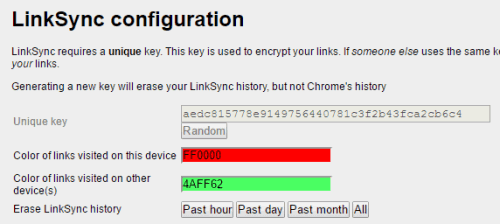 LinkSync options