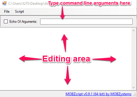MOBZcript interface