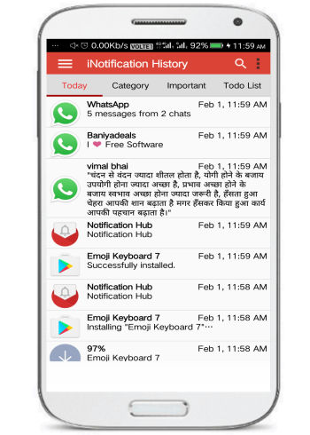 Notification History Master- 5 free notification hubs for Android