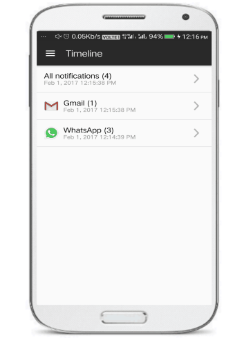 Notification Timeline- 5 free notification hubs for Android