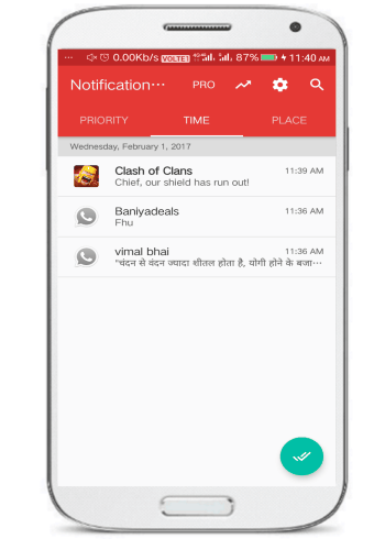 Notification hub- 5 free notification hubs for Android