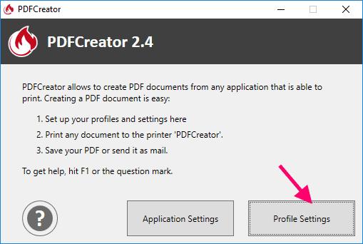 PDFCreator Main Interface