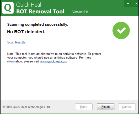 Quick Heal Bot Removal Tool to find and remove botnets
