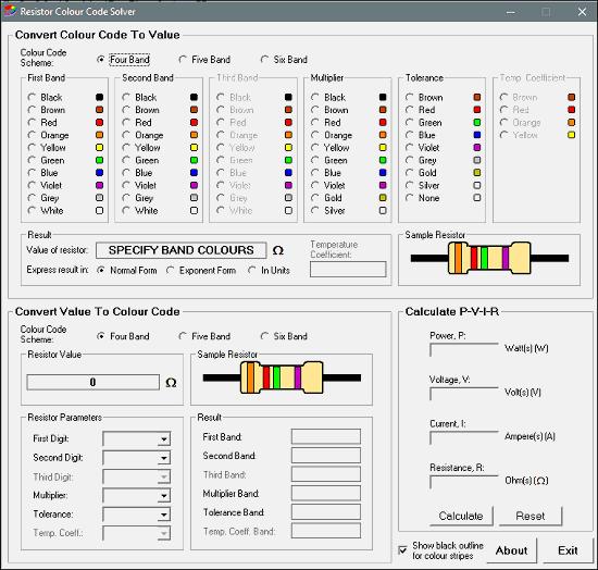 Resistor Colour Code Solver