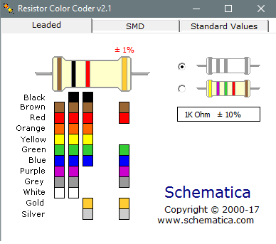 Resistor color coder interface