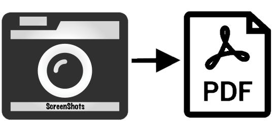Screenshots to pdf