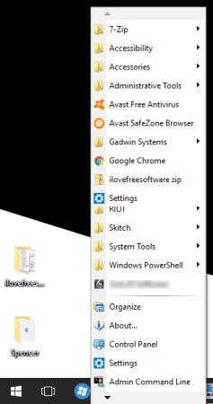 Spencer software Start menu