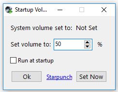 Startup Volume- interface