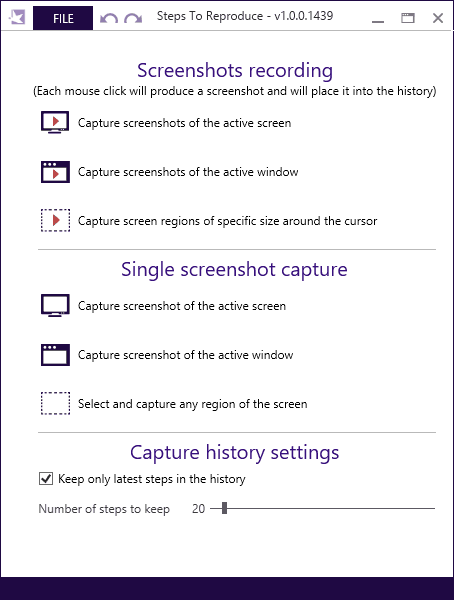 Steps to Reproduce Interface