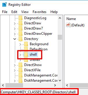 access shell key