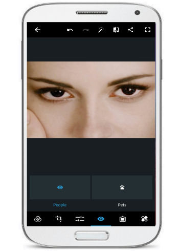 andorid app to remove red eye- PhotoShop express