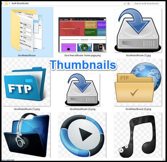 bulk create thumbnails from context menu