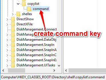 create command key