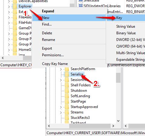 create serialize key